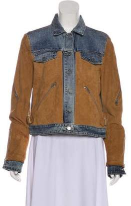 AllSaints Curtis Suede & Denim Jacket