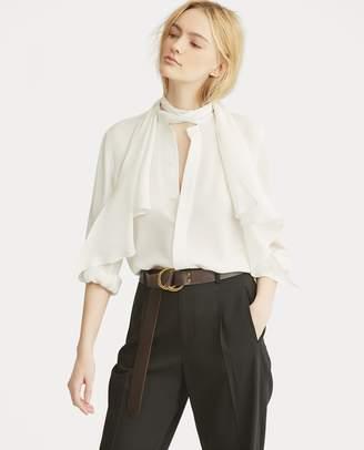 Ralph Lauren Necktie Silk Button-Down Shirt