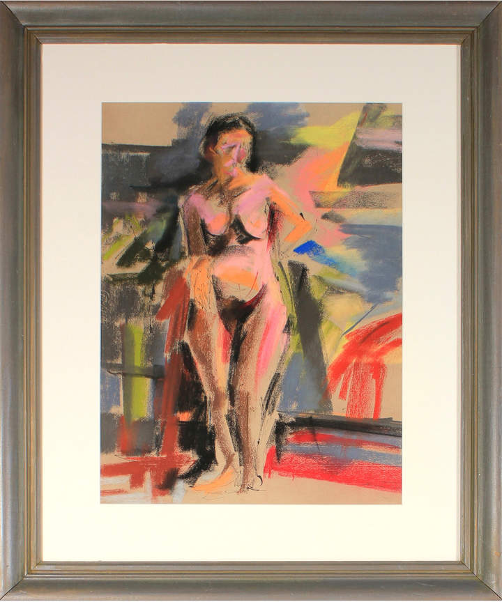 """""""Standing Nude in Abstraction"""" by Seymour Tubis"""