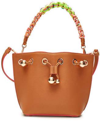 Sophia Webster Romy Leather Mini Bucket Bag With Woven Handle