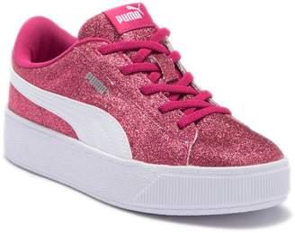 Puma Vikky Platform Glitz Sneaker (Little Kid)