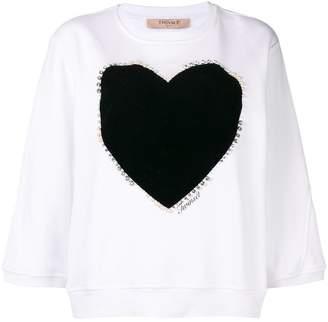 Twin-Set heart print sweater