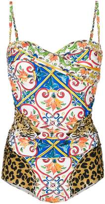 Dolce & Gabbana all-over print swimsuit