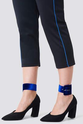 Na Kd Accessories Velvet Ankle Cuffs Cobalt