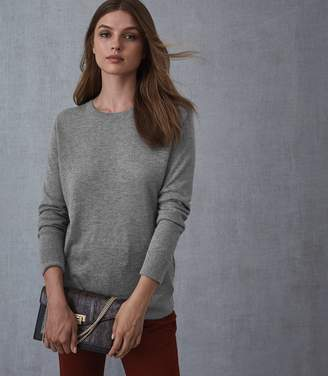Reiss MAYA CREW NECK JUMPER Grey Marl