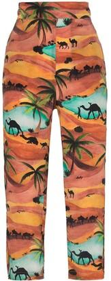 Oasis Chufy print trousers