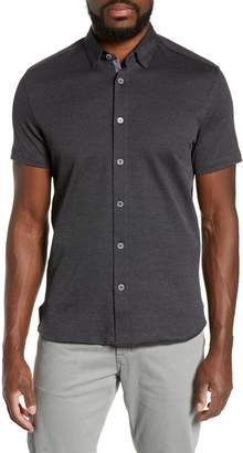 Ted Baker Waterco Slim Fit Short Sleeve Sport Shirt