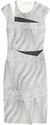 Vionnet Cutout Printed Crepe Dress