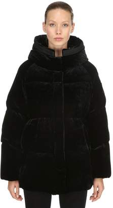 Moncler Butor Velour Down Jacket