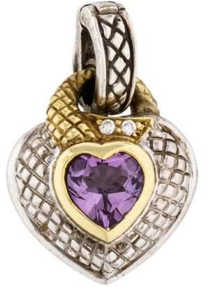Judith Ripka Amethyst & Diamond Heart Enhancer
