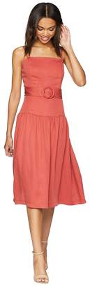 Adelyn Rae Coraline Drop Waist Midi Women's Dress