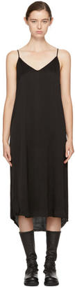 Raquel Allegra Black Silk Slip Dress