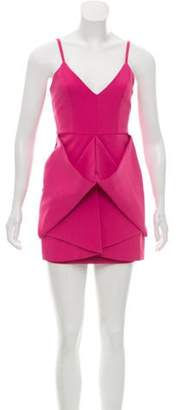 Aq/Aq Draped Mini Dress w/ Tags Pink Draped Mini Dress w/ Tags