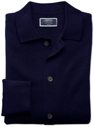 Navy Merino Wool Jacket Size Large