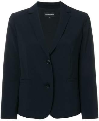 Emporio Armani cropped tailored blazer