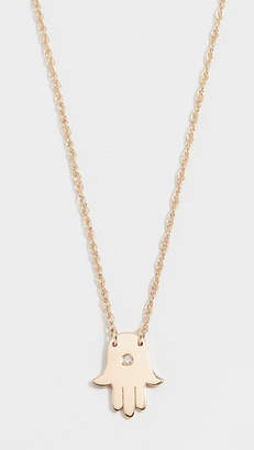 Jennifer Zeuner Jewelry Mini Hamsa Diamond Necklace