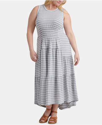 4a0ec80b4 Lucky Brand Plus Size Striped Ruched Maxi Dress