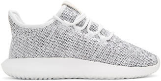 adidas Originals White Knit Tubular Shadow Sneakers $110 thestylecure.com