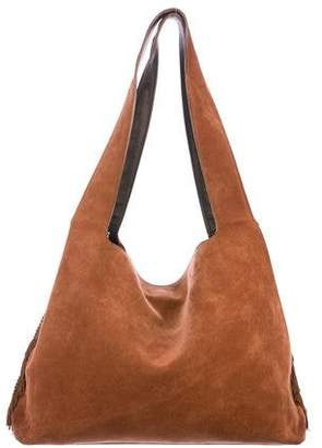 The Row Suede Tassel Hobo