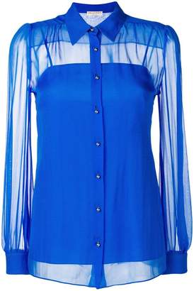 Emilio Pucci gathered sheer shirt