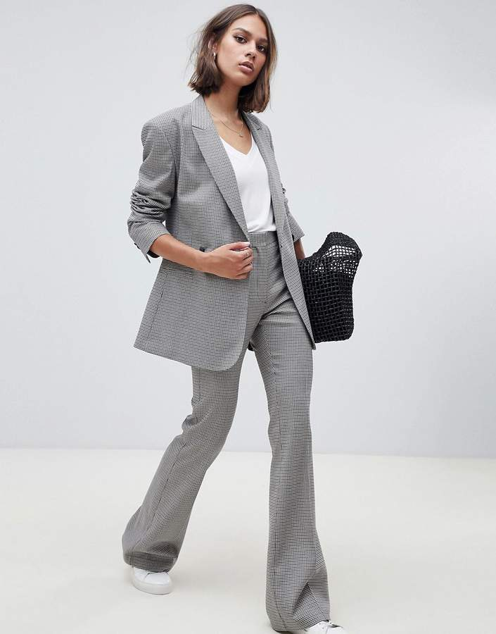 ASOS DESIGN tailored checked slim pants
