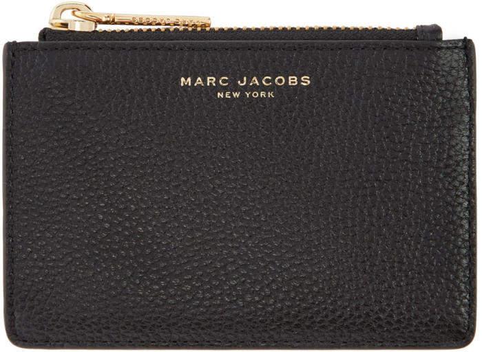 Marc Jacobs Black Top Zip Card Holder
