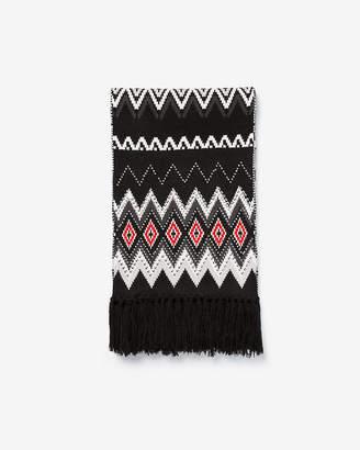 Express Geometric Studded Knit Oblong Scarf