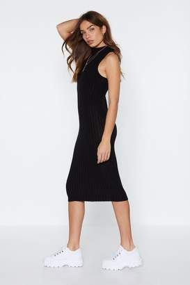 Nasty Gal Don't Let Knit Get You Down Ribbed Dress