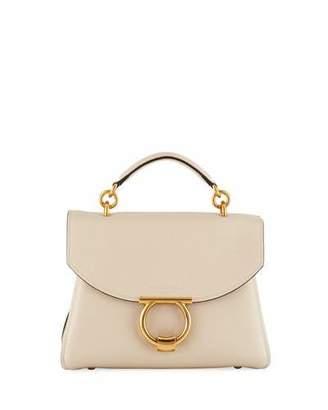 Salvatore Ferragamo Small Gancio Vela Leather Top-Handle Satchel Bag