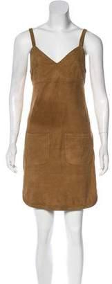 See by Chloe Leather Mini Dress
