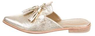 Stuart Weitzman Metallic Leather Mules w/ Tags
