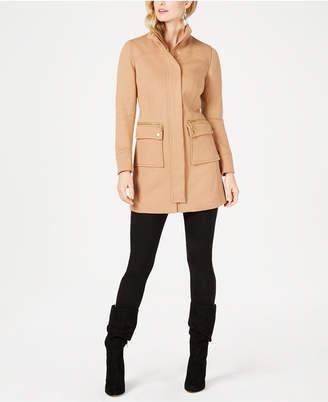 INC International Concepts I.N.C. Petite Stand-Collar Knit Coat, Created for Macy's