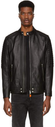 Diesel Black Leather L-Shiro Jacket