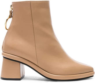 BEIGE Reike Nen Leather Ring Slim Boots in | FWRD
