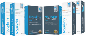 Nourkrin Man for Hair Preservation 6 Month Bundle with Shampoo and Conditioner x2 (Worth 311.78)
