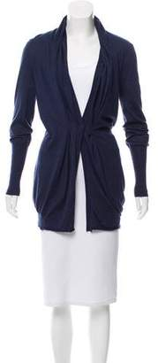 Brunello Cucinelli Draped Silk-Cashmere Cardigan
