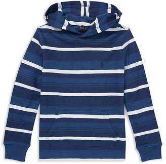 Polo Ralph Lauren Boys' Striped Cotton Waffle-Knit Hoodie - Big Kid
