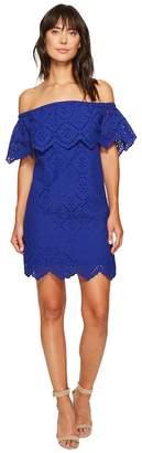 Kensie Petal Eyelet Off Shoulder Dress KS6K993S Women's Dress