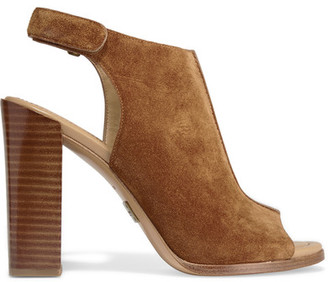 Michael Kors Collection - Maeve Suede Slingback Sandals - Tan $395 thestylecure.com