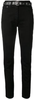 Moschino belted skinny jeans