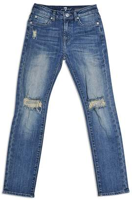 7 For All Mankind Boys' Paxtyn Slim Distressed Jeans - Little Kid $65 thestylecure.com