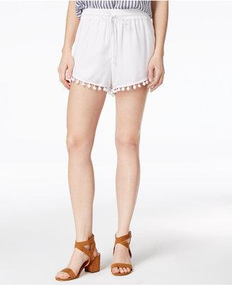 kensie Drawstring Pom-Pom Shorts $55 thestylecure.com