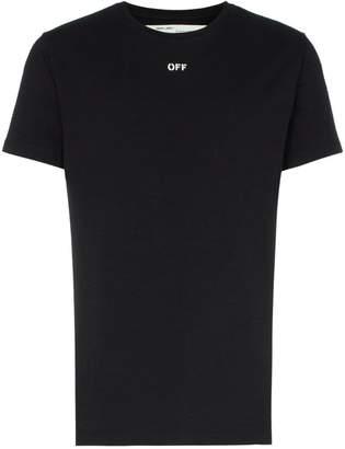 Off-White skull diagonal stripe print cotton T-shirt