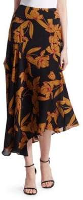 A.L.C. Lev Floral Midi Skirt