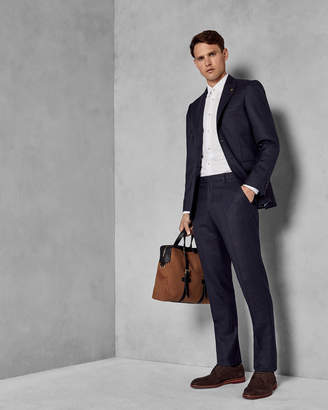 Ted Baker DEBCHET Slim fit checked wool suit trousers