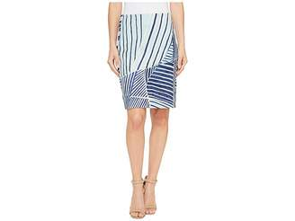Nic+Zoe Palm Leaf Skirt Women's Skirt
