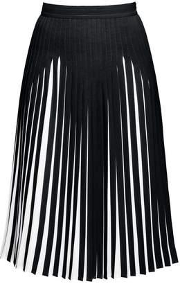 Rumour London - Penelope Black Pleated Two-Tone Midi Skirt