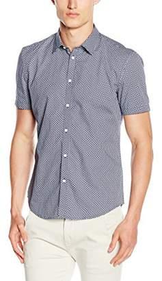 Esprit Men's Flower AOP Slim Fit Short Sleeve Dress Shirt,(Manufacturer Size:3536)