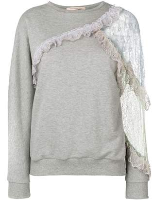 Christopher Kane patchwork lace sweatshirt