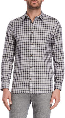 Calvin Klein Dobby Check Printed Shirt
